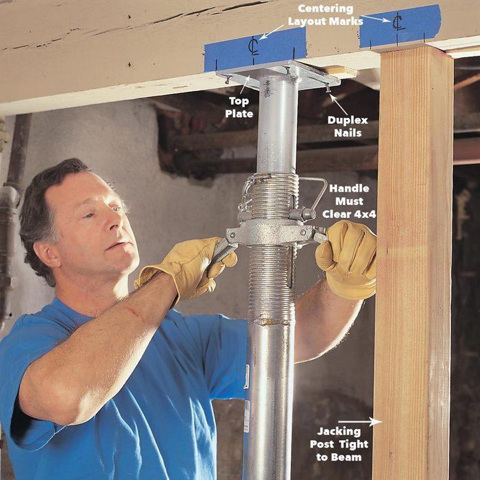 shoring post replace load bearing post