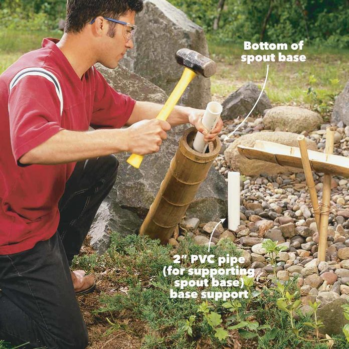 diy bamboo japanese water feature