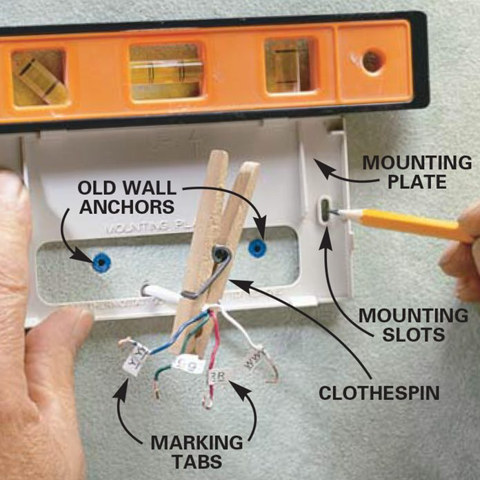 mount new thermostat