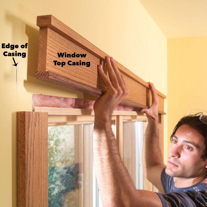 install window top casing