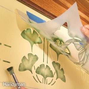 Simple Wall Stenciling