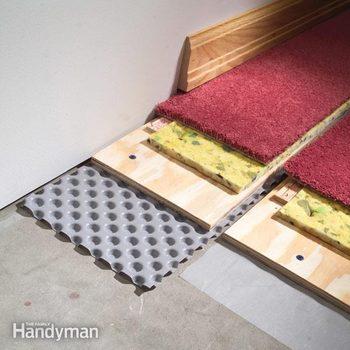 how to carpet a basement