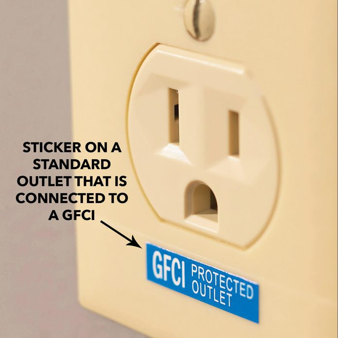 Identification label on gfci outlet
