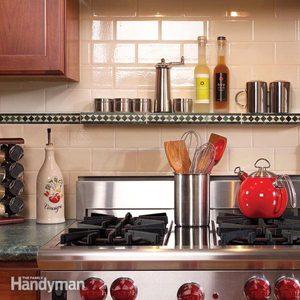 Installing Kitchen Backsplash and New Vent Hood