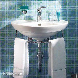 Installing a Bathroom Sink: Wall-Hung Sink