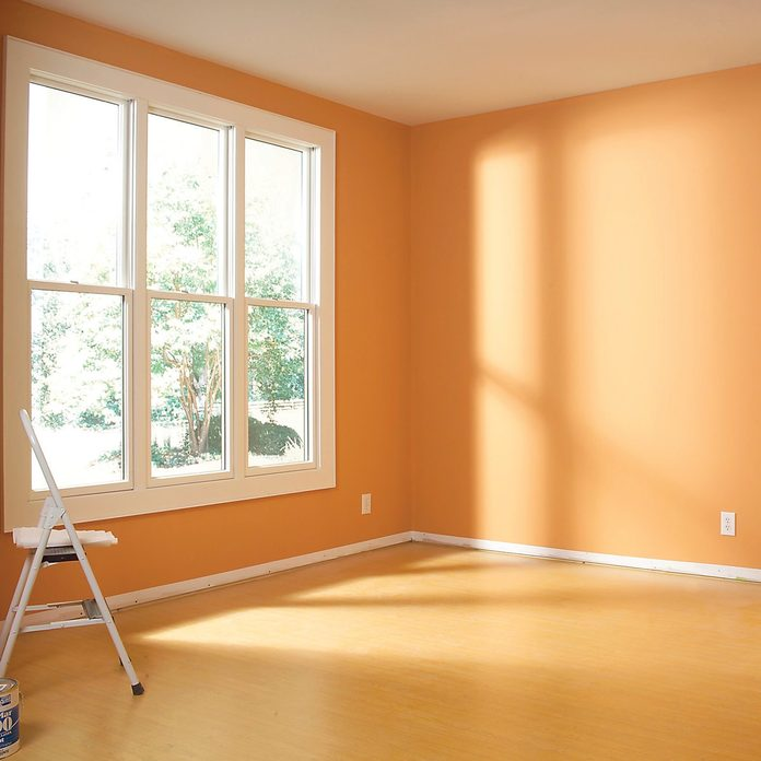 wood wainscoting panels before empty room