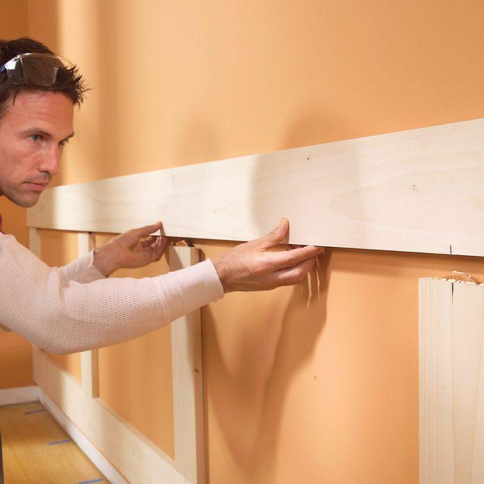 fit top rail wood wainscoting panels