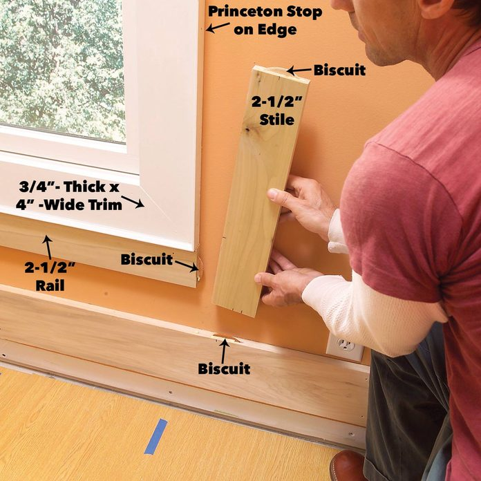 Add rails and stiles at windows