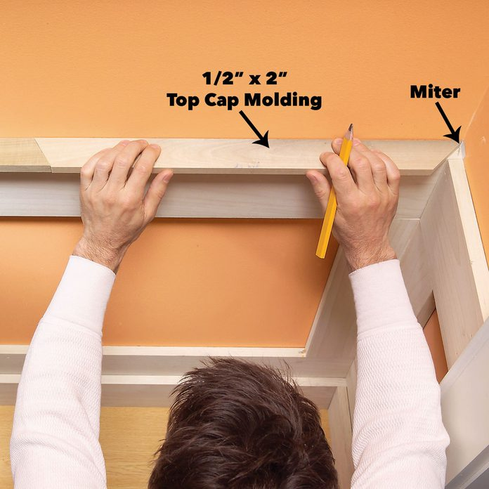 add cap molding to wainscoting