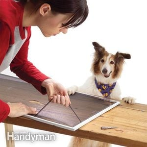 How to Replace a Torn Fiberglass Screen With Heavy Duty Screen Mesh