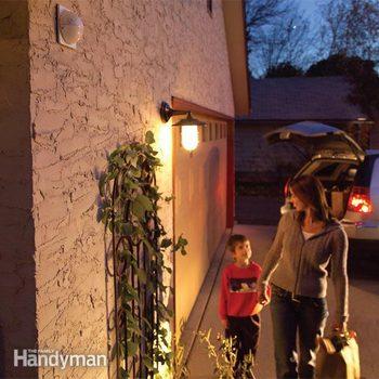 outdoor motion sensor flood light