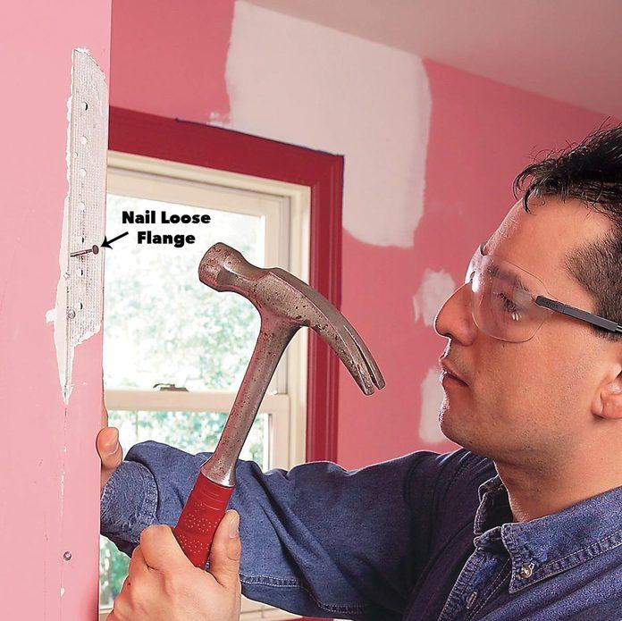 renail cracked wall corners