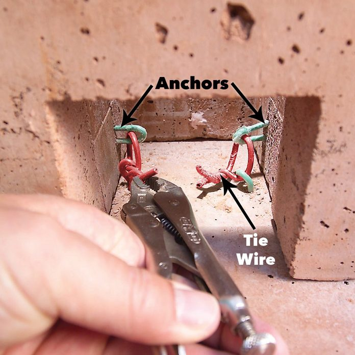 tie column and base anchors