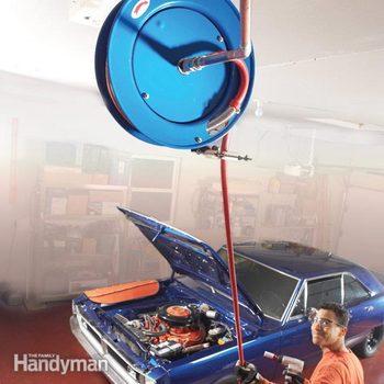 retractable air hose reel