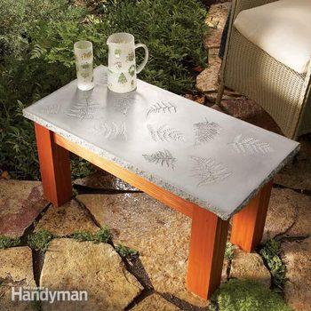 concrete wood table plans