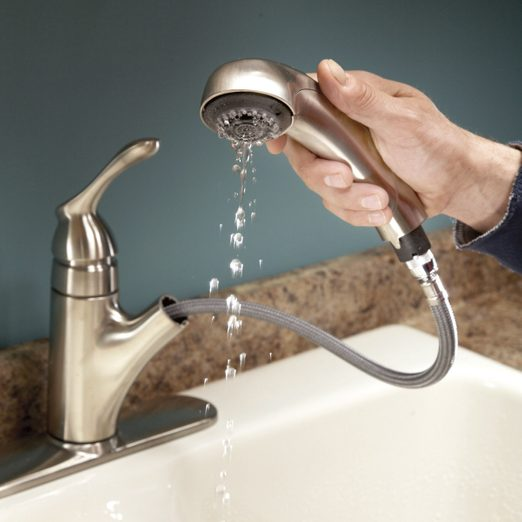 low water pressure in kitchen faucet