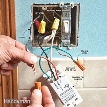 bathroom fan switch