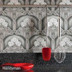 Ideas for the Kitchen: Washable Wallpaper Backsplash