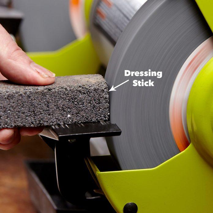 clean bench grinder wheel dressing stick