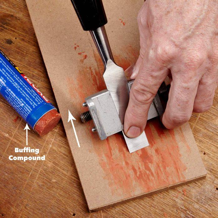 polish chisel edge