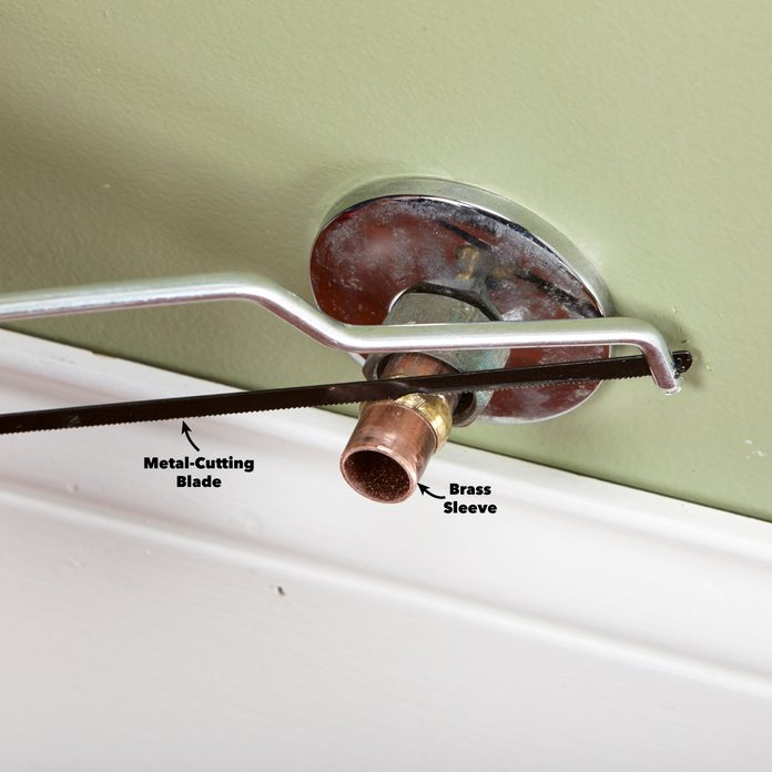 Remove and replace a compression shutoff valve