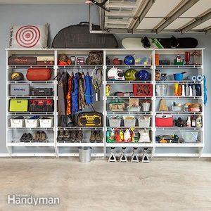 Wire Shelving & Melamine Garage Storage Plans