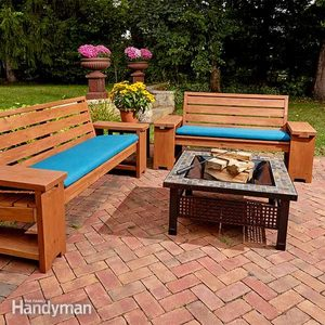Perfect Patio Combo: Wooden Bench Plans With Built-in End Table