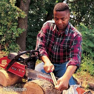 How to Sharpen a Chainsaw
