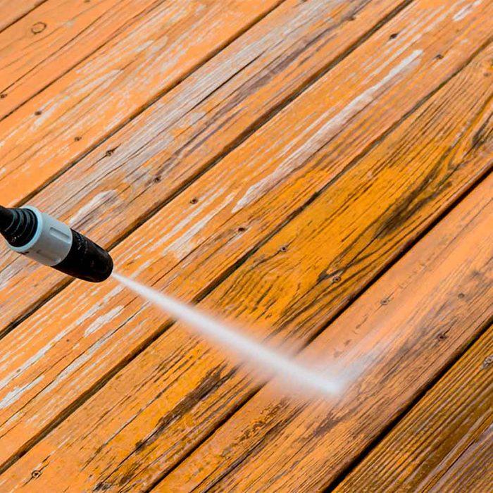 Pressure Wash the Porch