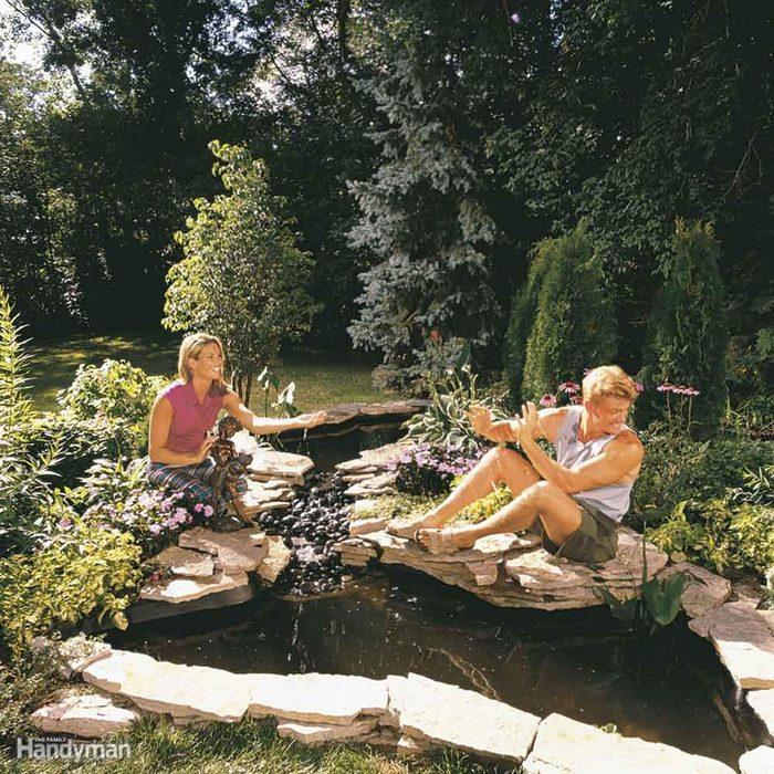 Build a Water Garden Stream