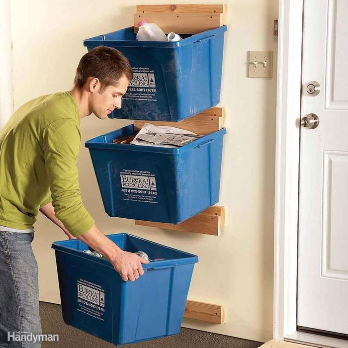 Recycling bin rack