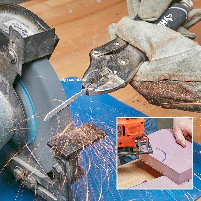Make a blade for cutting foam