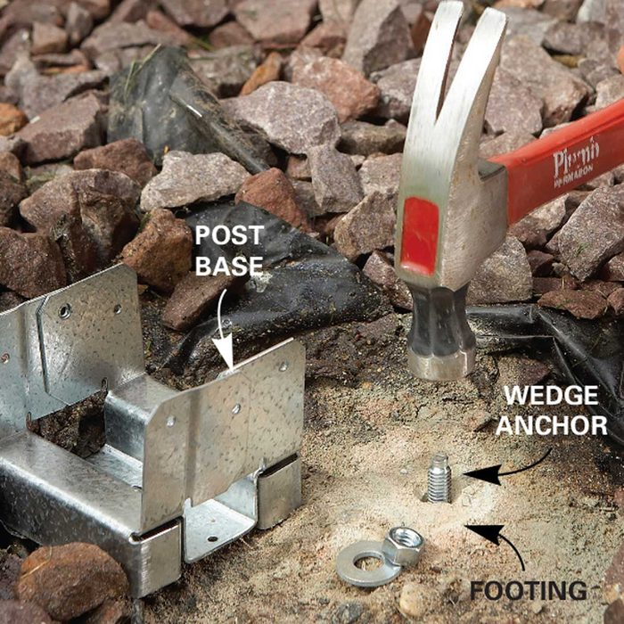 Problem 3: Rotten Deck Support Posts, Install an Anchor and Base