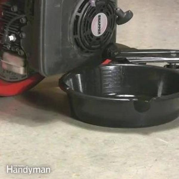 change oil for a lawn mower