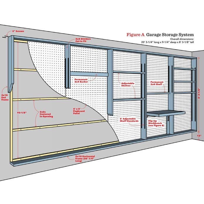 garage storage wall plans