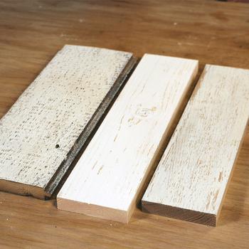 three boards for whitewash wood white wash wood