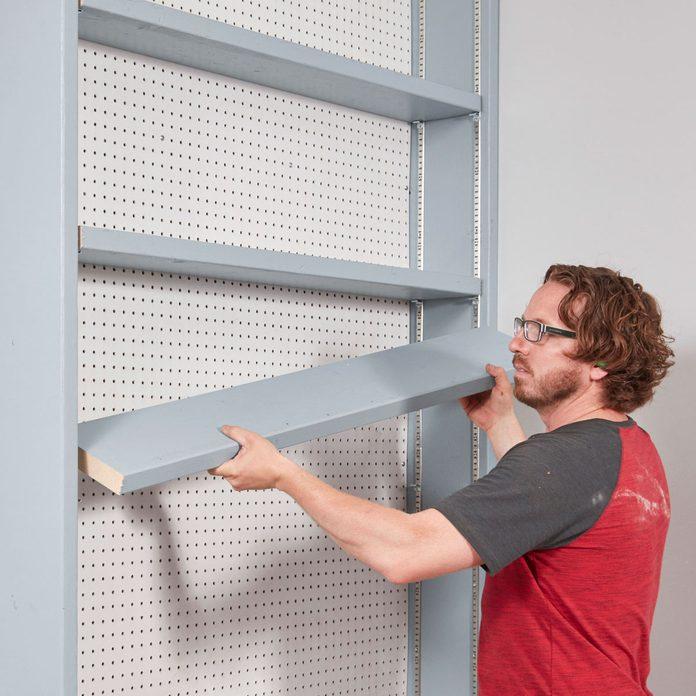 garage shelf assembly