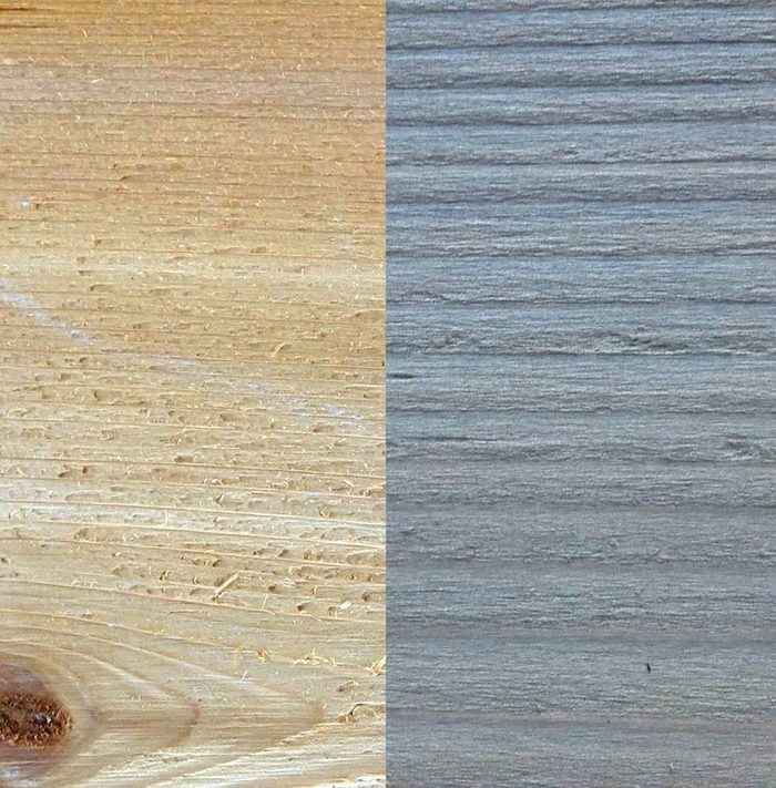 Before and after: cedar and iron vinegar