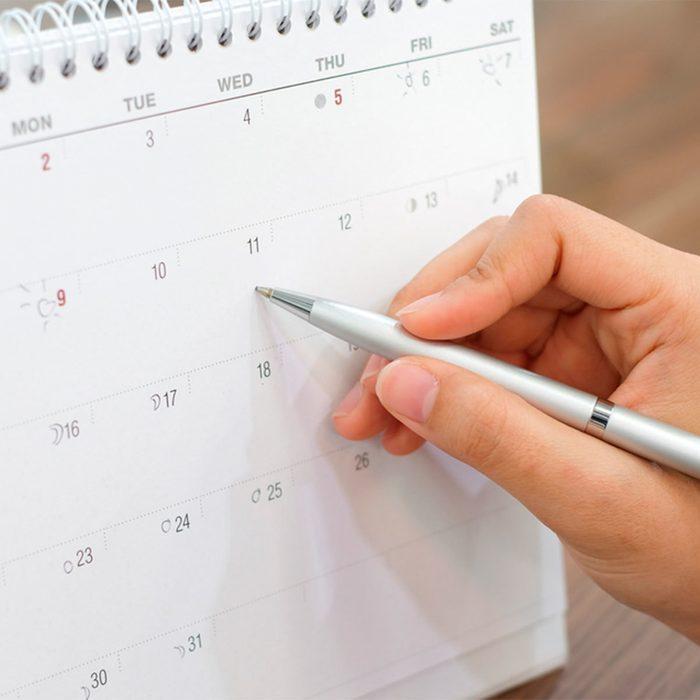 Consult the Calendar
