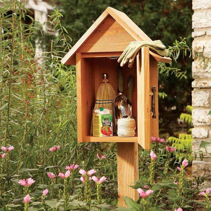 Garden Tool Storage Cubby