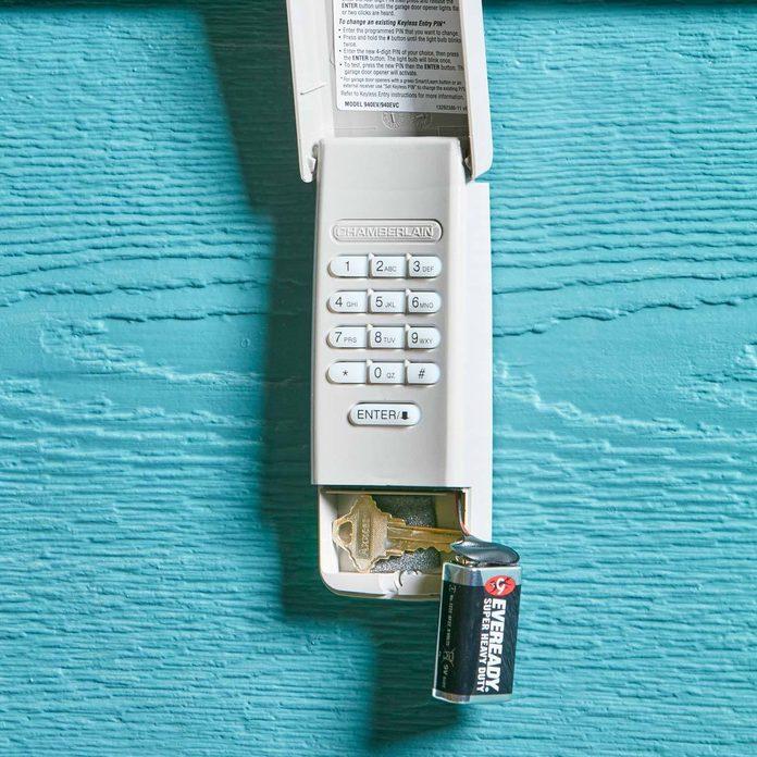 key pad secret hiding place