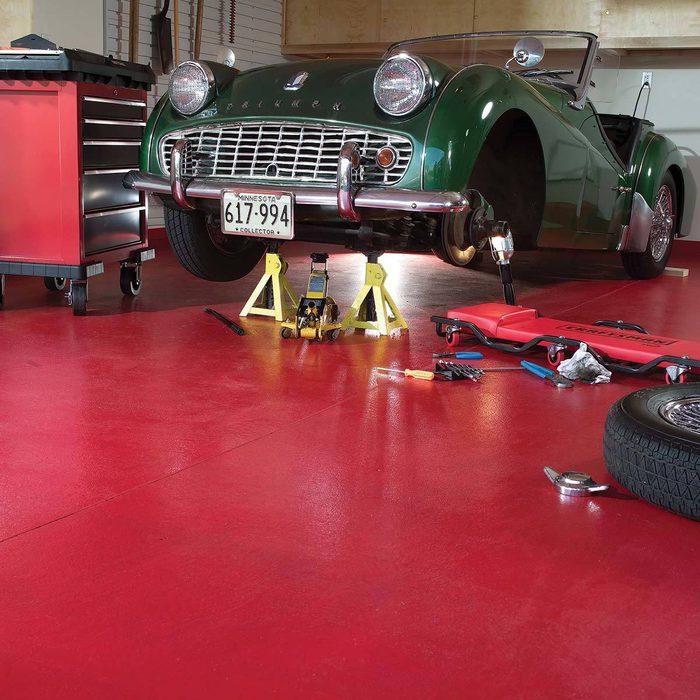 Paint the garage floor