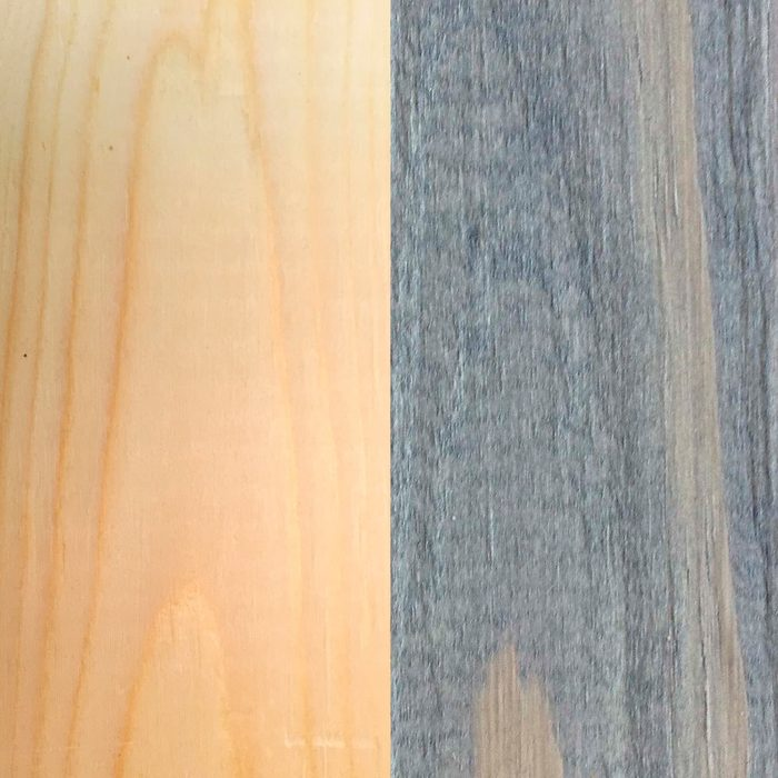 Before and after: pine and Arborcoat