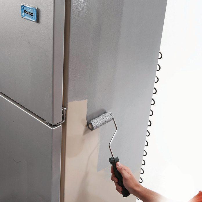 paint fridge appliance stainless steel paint