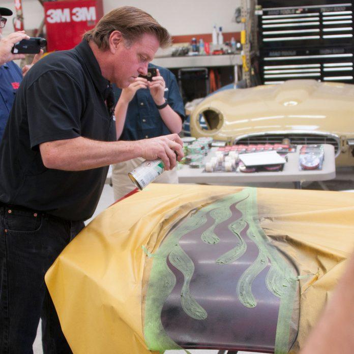 automotive tape flames