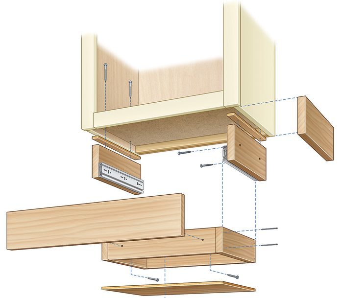 under-cabinet drawer illustration