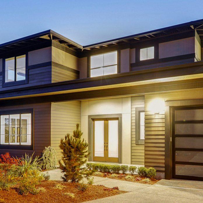 monochromatic modern home