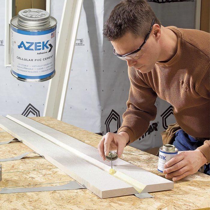 PVC pipe cement for PVC trim?
