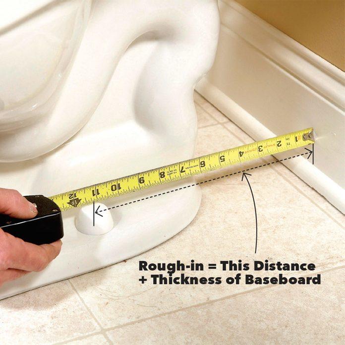 Rough-in toilet