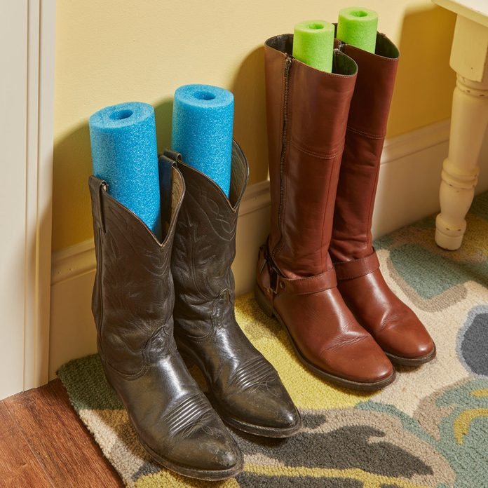 Keep Your Boots at Attention pool noodles